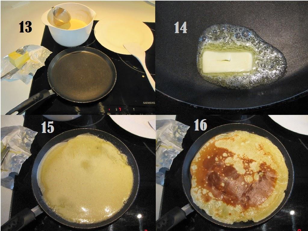 gode pandekager, opskrift med billeder, bages, pande, smør, gyldne