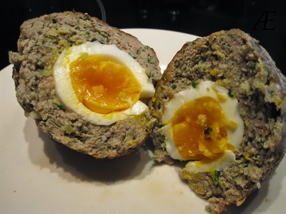 Skotske æg med opskrift