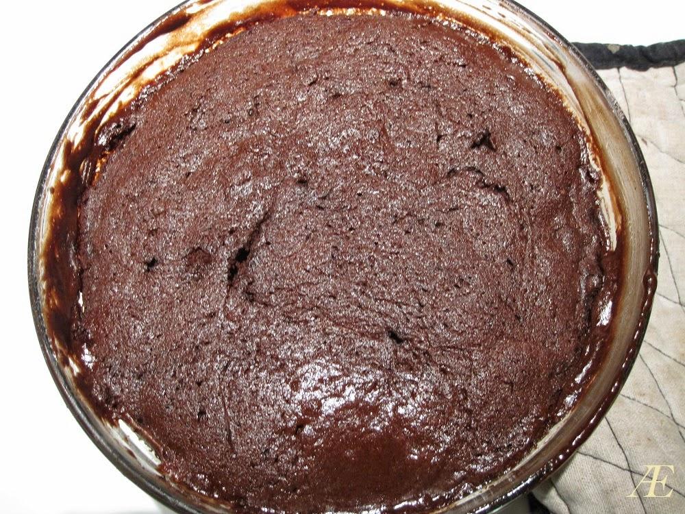 færdigbagt chokoladekage i mikroovn
