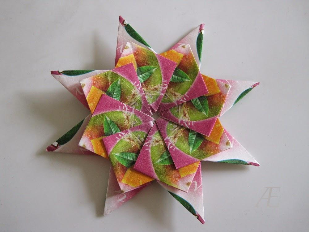 DIY origami stjerner af tebreve