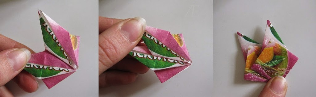 DIY variation af origami stjerner med 16 spidser