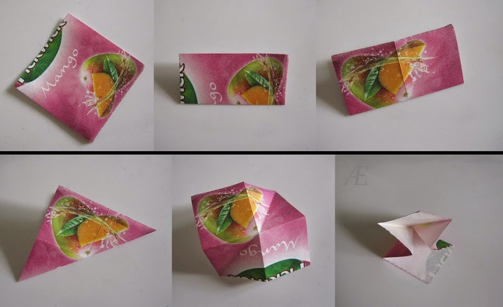 DIY origami stjerner af tebreve - 1. trin