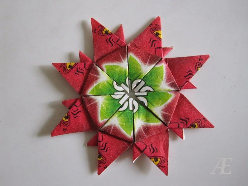 DIY - Fin origami stjerne af tebreve