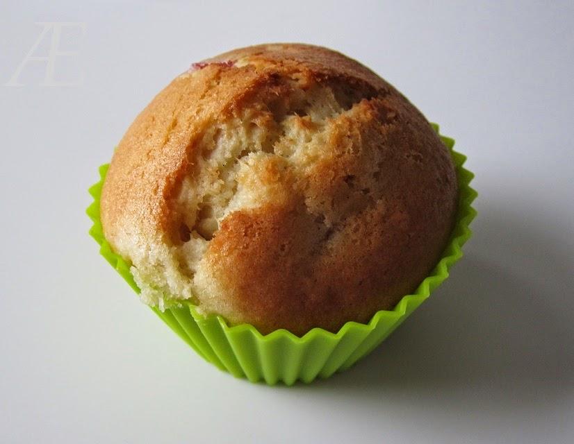 Rabarber muffins - Billedet hører til en rigtig god opskrift!