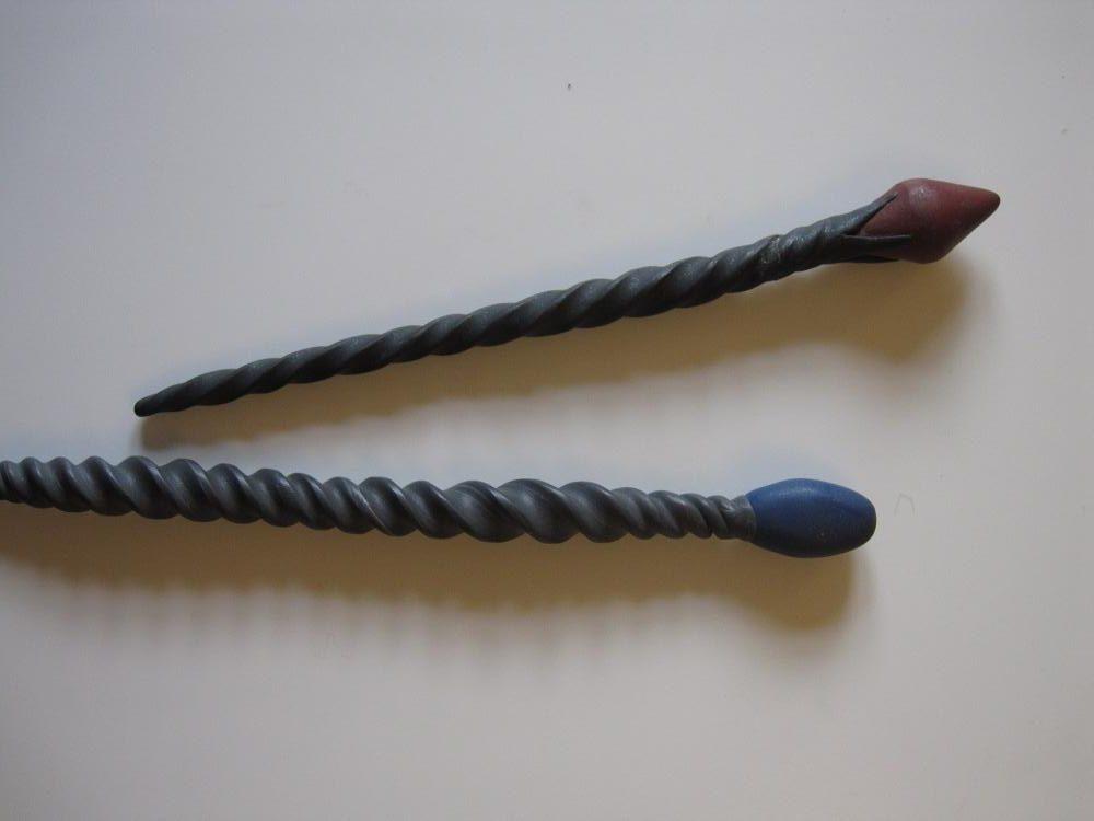 To flotte tryllestave af Fimo-ler (eller cernit)