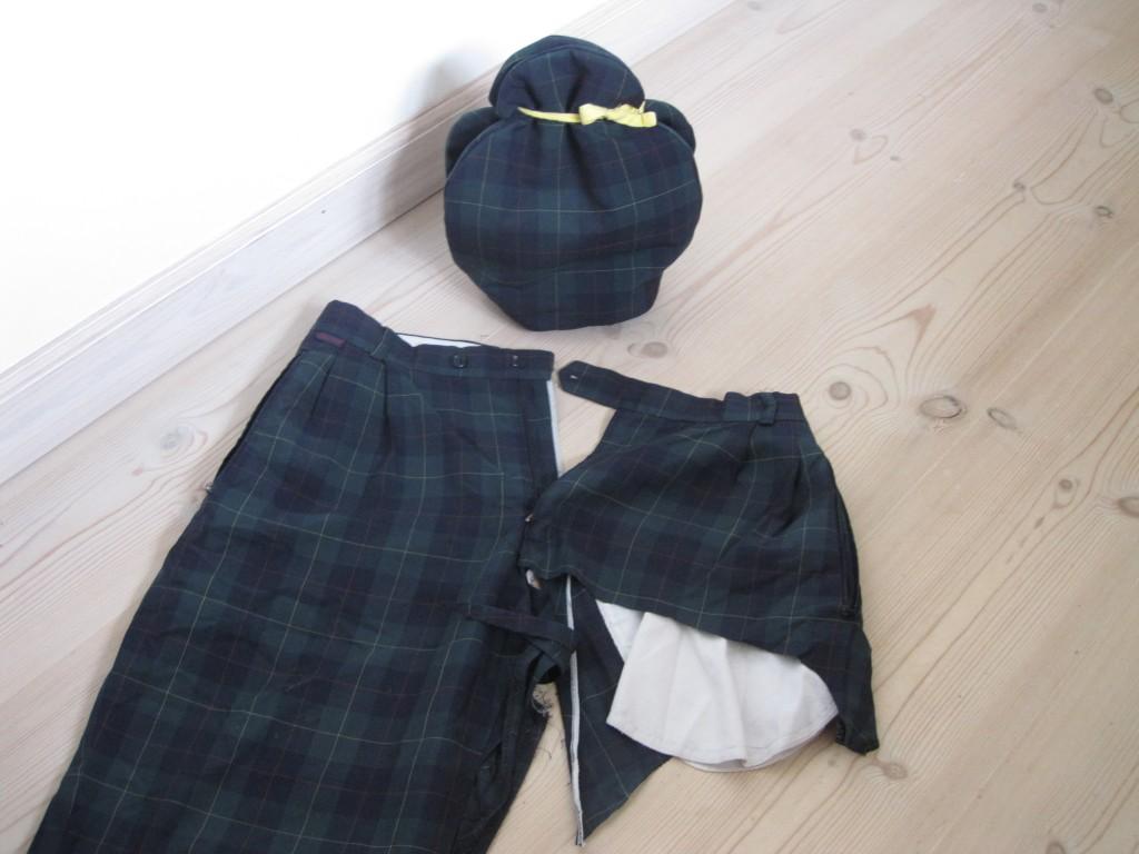 tehætte af et par bukser