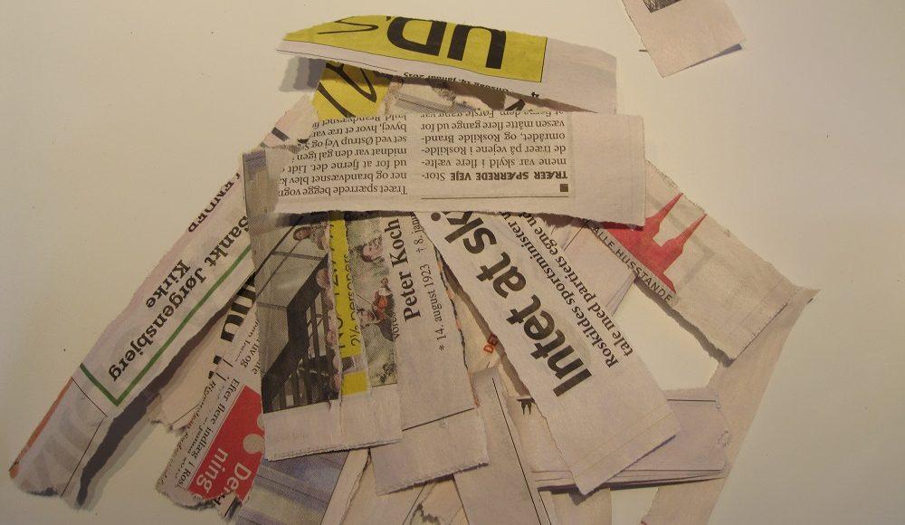 avisstrimler til papmache