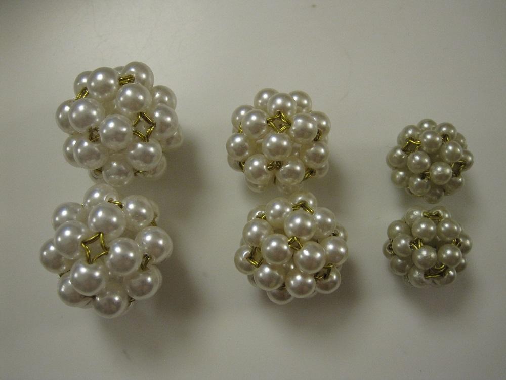 DIY - Perlekugler, med guldtråd