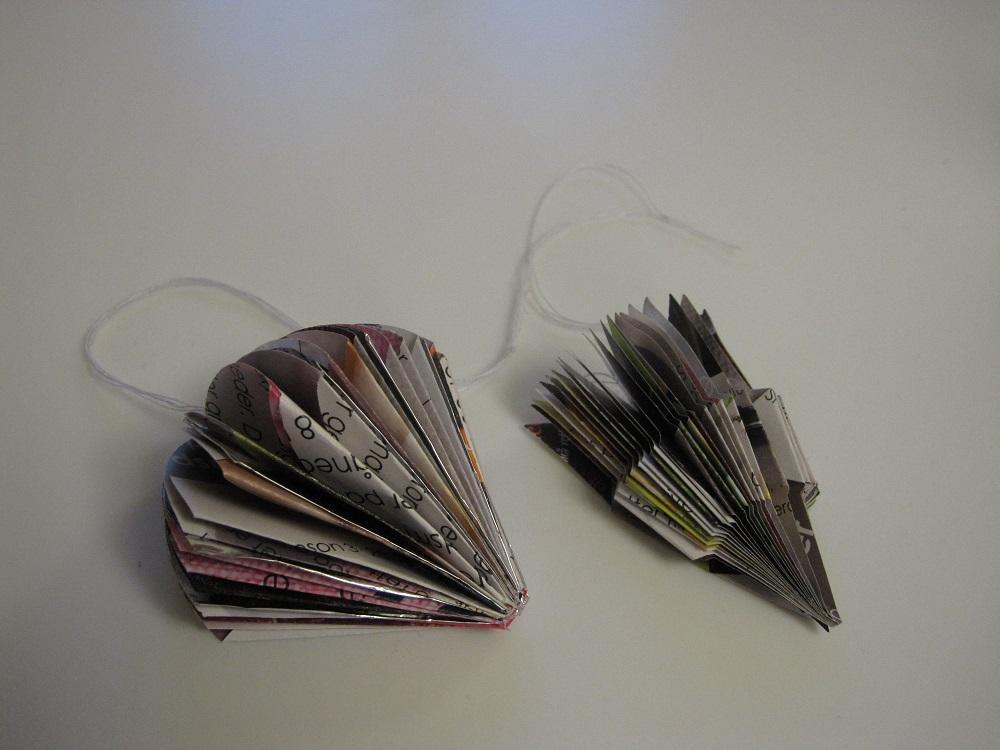 Alternative former på papir kugler