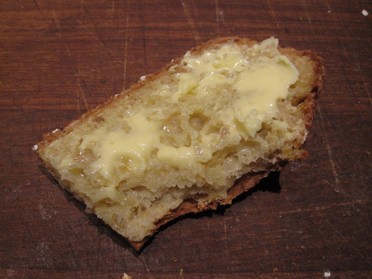 Græskar grydebrød med smør