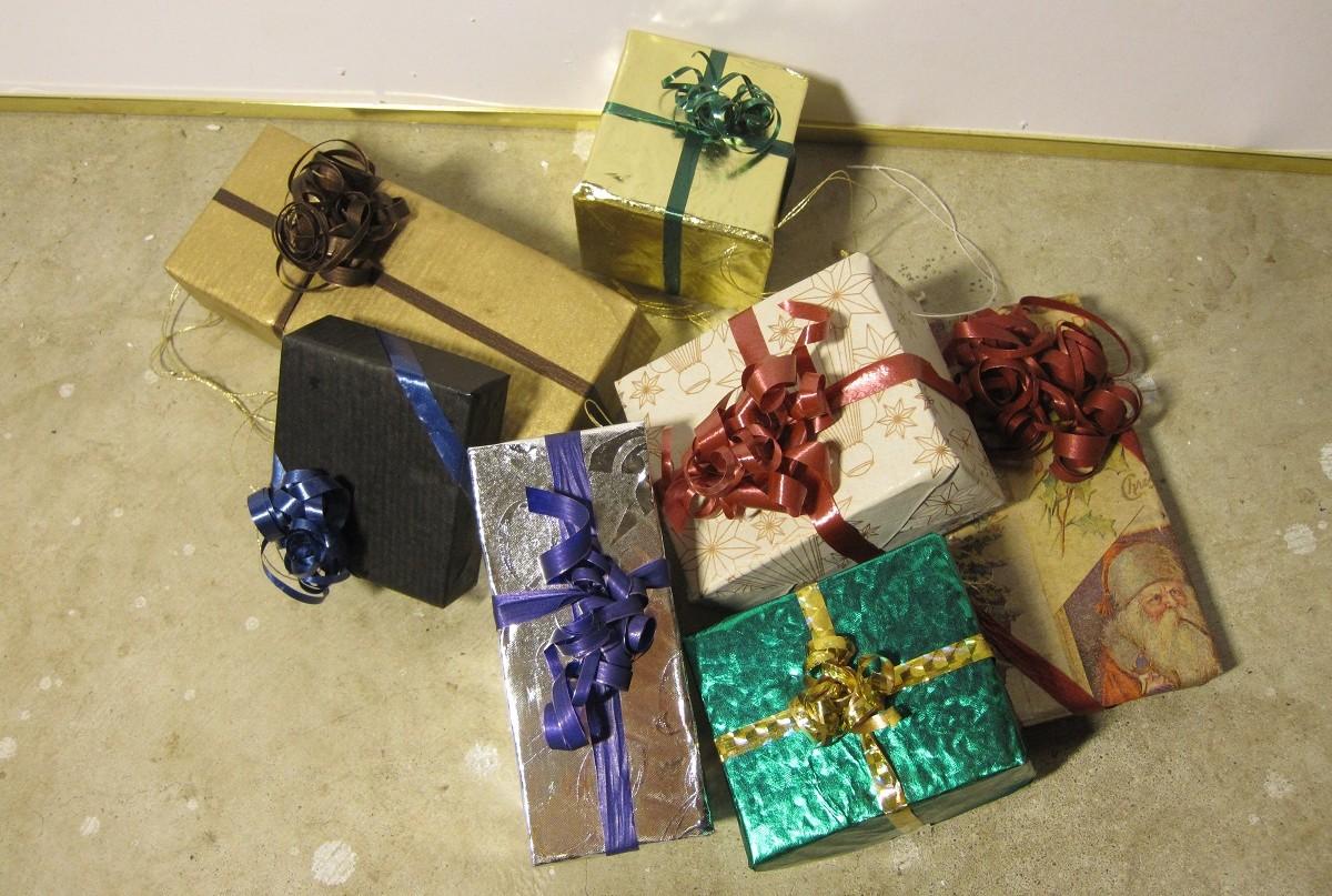 Bunke 1 af pynte julegaver