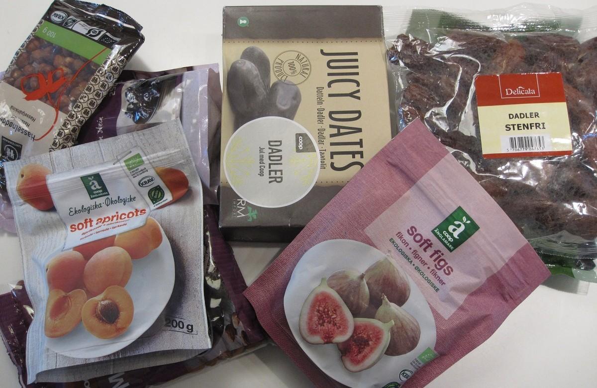 Ingredienser - Tørret frugt og nødder til sunde konfekt kugler