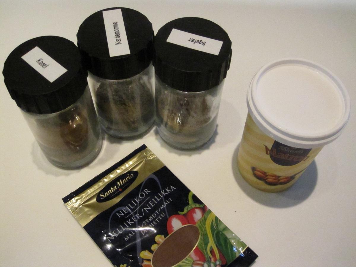 Krydderier til honningkagemænd