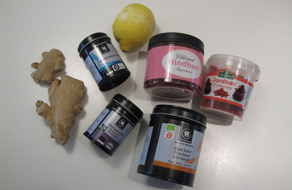 Krydderier og pynt til sundere konfekt kugler