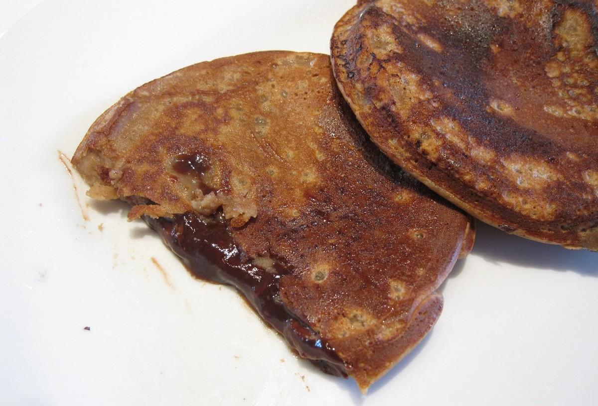 Lækre Nutella pandekager