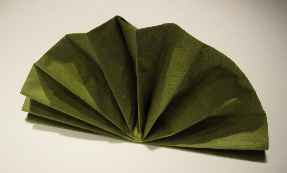 Grøn vifte serviet