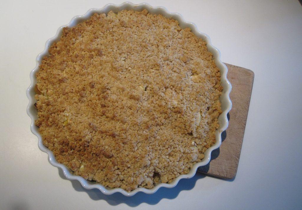 Opskrift på æble crumble /smuldre æblekage