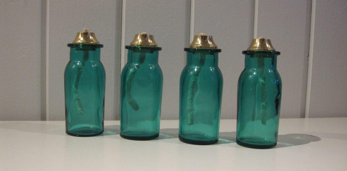 De sødeste små turkis-blå olielamper