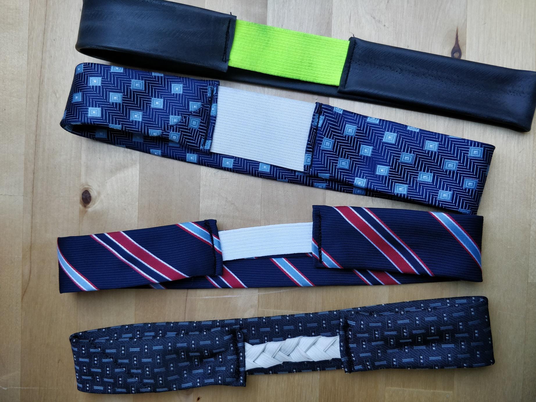 Hjemmelavet hårhånd af slips og cykelslange