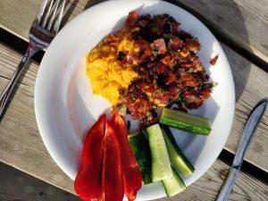 Opskrift på Sød kartoffelmos m. bacon