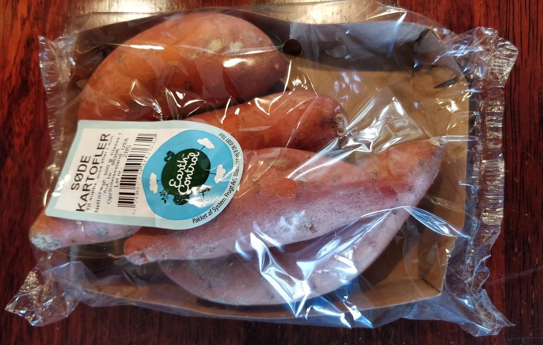 Søde kartofler til kartoffelmos