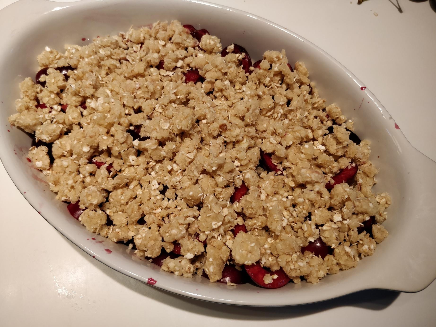 Morel eller Kirsebær tærte / crumble