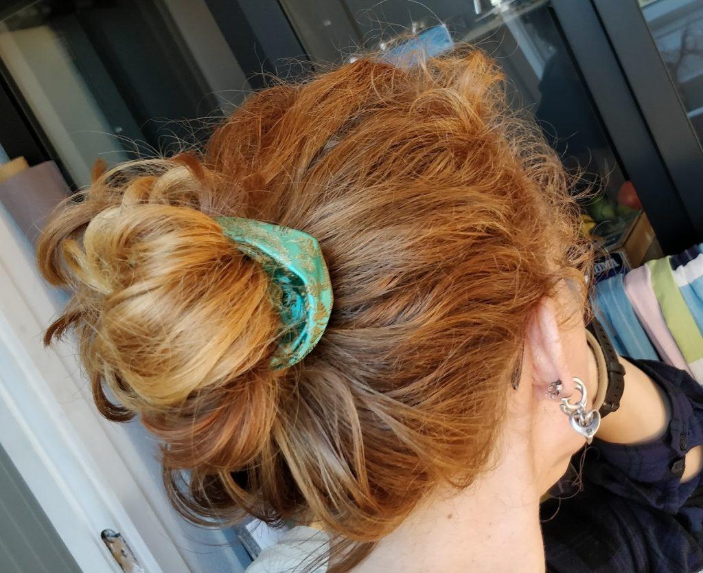 Hjemmelavet scrunchie