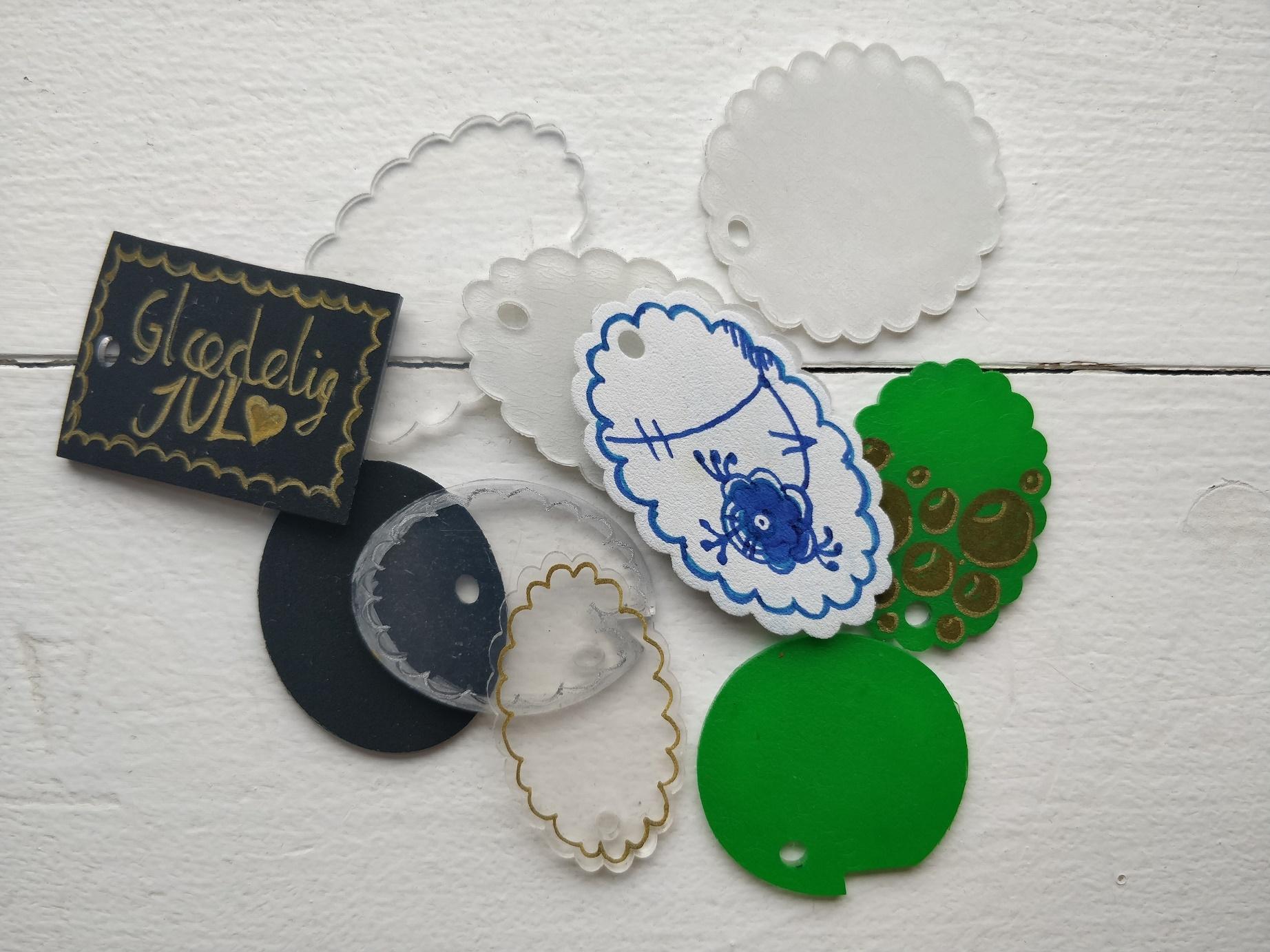 Til og fra kort, manillamærker eller gavemærker, der kan genrbuges mange år frem!