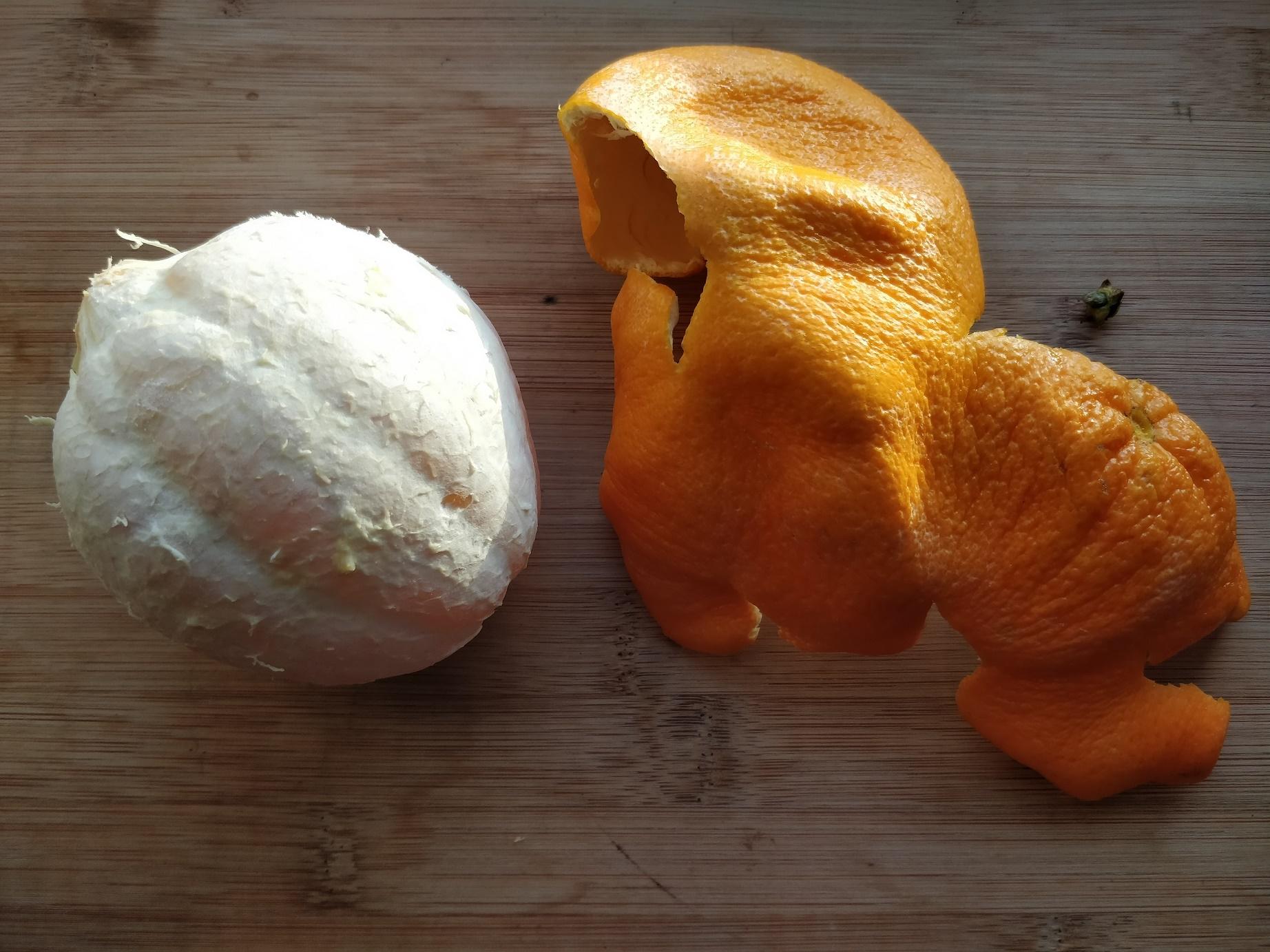 Skrællet appelsin